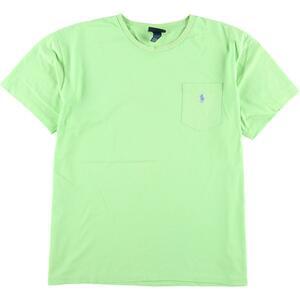 ラルフローレン Ralph Lauren POLO by Ralph Lauren 半袖 ワンポイントロゴポケットTシャツ メンズL /eaa167036