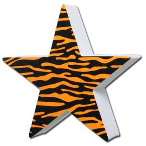 タイガー スター アンテナボール アンテナトッパー 車 目印 飾り カスタム USA トラ柄 虎 星 ギャル アクセサリー 定形外