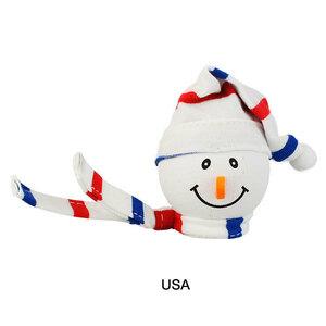 ニット帽 スノーマン アンテナボール USA アンテナトッパー 車 オーナメント カーアクセサリー 目印 飾り 雪だるま クリスマス 定形外