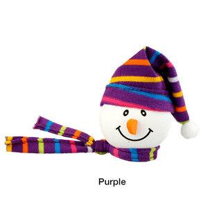 ニット帽 スノーマン アンテナボール 紫 アンテナトッパー 車 オーナメント カーアクセサリー 目印 飾り 雪だるま クリスマス 定形外
