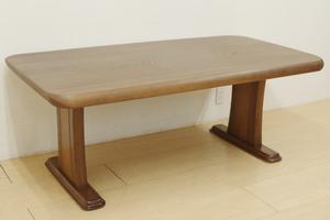 高級 ナガノインテリア ダイニングテーブル 楢 オーク 無垢材 食卓机 作業台 ナチュラル シンプル 幅165cm 4~6人掛け