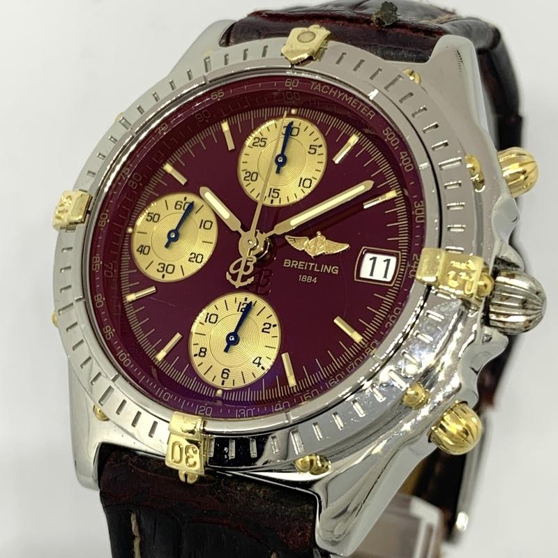 ●最終出品 1円~ ブライトリング Breitling クロノマット レッド文字盤 クロノグラフ B13050.1 メンズ 自動巻き デイト 腕時計 CD27936154