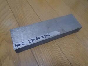 チタン 27×60×206  64チタン(?)角材 残材 端材 材料 NO.2