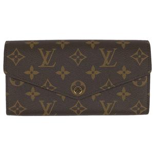 ルイ・ヴィトン Louis Vuitton ポルトフォイユ サラ 札入れ 小銭入れ 二つ折り 長財布 モノグラム ブラウン M60531 レディース 【中古】