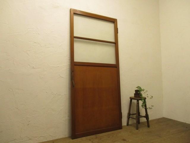 タX834◆(1)【H175cm×W80cm】◆レトロな洋館の古い木製ドア◆建具門扉カフェ映画撮影スタジオ建築資材L下