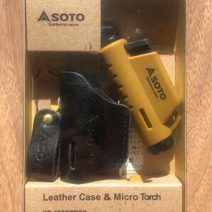 SOTO 限定品ST-486CT マイクロトーチ レザーケース付セット コヨーテ