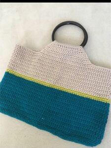ハンドメイド かぎ針編みバッグ