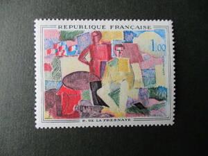 フランス美術切手 ド・ラ・フレネ画「パリ祭」 1961年 未使用 フランス共和国 VF/NH