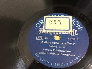 SP盤 独盤 ウェーバー 舞踏への勧誘 フルトヴェングラー 67056 ICR