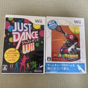 wiiソフト2枚セット マリオテニス+ジャストダンス