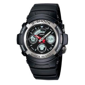 新品 即納 カシオ 時計 メンズ 腕時計 アナデジ 多機能 ブラック AW-590-1A