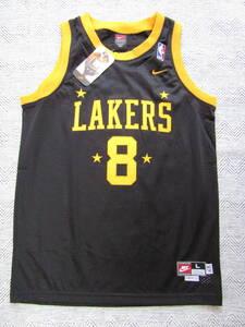 美品 NBA LAKERS コービー・ブライアント BRYANT ロサンゼルス・レイカーズ NIKE製 ユース ユニフォーム ナイキ バスケ シャツ