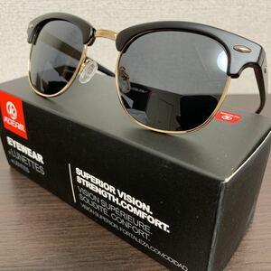 新品未使用♪kdeam最新偏光レンズサングラス ウェリントンブラック即購入可