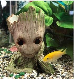 アクアリウム かわいい ツリーマン インテリア オブジェ オーナメント 水族館 飾り 樹脂 水槽 装飾 熱帯魚 金魚 鑑賞魚【領収書発行可能】