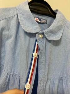 ビームス 半袖 丸襟シャツ