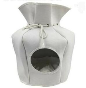 猫のおうち① ドローストリングハウス白 ペットハウス