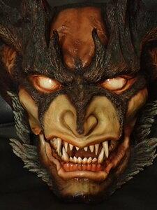 希少 デビルマン ヘッド1/1 ガレージキット完成品 AMON 圧倒的塗装力&迫力 検:悪魔人間 神 サタン デーモン