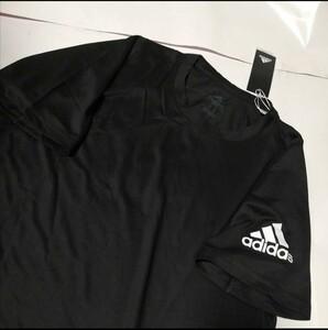 adidasTシャツ サイズL普段着トレーニングウェアジムスポーツサッカーランニング薄手Tシャツ重ね着にも未使用アディダスサイズL
