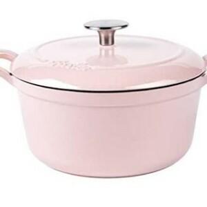 新品 可愛いフィスラー ホーロー 両手鍋 ココット 20cm ピンク