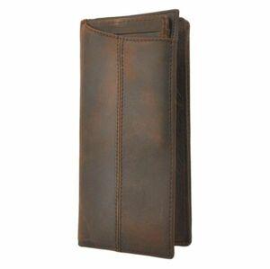 新品SALE! 牛革 長財布 メンズ レディース 二つ折り 本皮 レザー 薄い シンプル お札入れ 小銭入れ カードロングウォレット ダークブラウン
