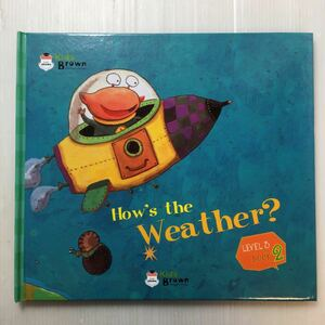 zaa-172♪『How's the Weather?』Kids Brown 英語学習しかけ絵本 Level-2 Book3  2011年/本のみ。