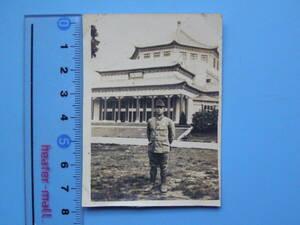(J35)24 写真 古写真 戦前 日本軍占領地 陸軍軍人 記念写真 大日本帝国陸軍 日本陸軍