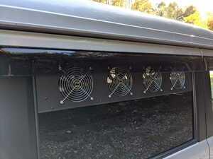 【17エブリィ/他】換気ファン 窓はめ込み式 USB電源 換気扇 快眠 車中泊 車中飯 DA17W V Aタイプ