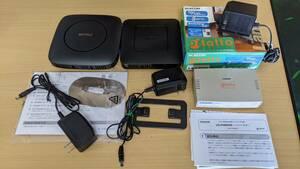 【無線LAN ルーター 2台+ LANハブ セット】BUFFALO WSR-A2533DHP2-CB IPv6対応 WSR-300HP エレコム LD-PSW05N/AT スイッチンング ハブ WiFi