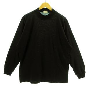 ジャンニヴェルサーチ ヴェルサーチェ GIANNI VERSACE ニット セーター ハイネック 長袖 ウール イタリア製 ブラック 黒 46