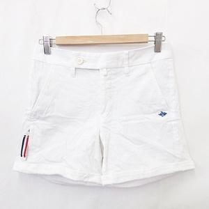 パーリーゲイツ PEARLY GATES ショートパンツ 短パン ゴルフウェア ロールアップ ロゴ 綿 ストレッチ ボーダー 白 紺 ホワイト ネイビー 0