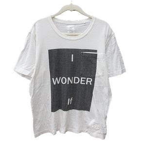 ネーム Name. Tシャツ カットソー プリント 半袖 2 白 ホワイト グレー /MS メンズ