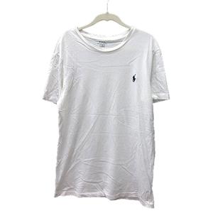 ポロ ラルフローレン POLO RALPH LAUREN カットソー Tシャツ クルーネック ワンポイント 半袖 M 白 ホワイト /MN メンズ