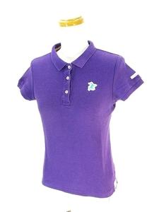 パーリーゲイツ PEARLY GATES ジャックバニー Jack Bunny!! ポロシャツ 半袖 ワンポイント ゴルフ ウェア 紫 パープル 0 国内正規