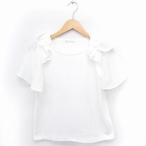 マジェスティックレゴン MAJESTIC LEGON Tシャツ カットソー 袖切替 丸首 半袖 F ホワイト 白 /FT29 レディース