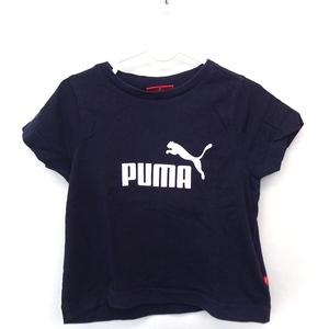 プーマ PUMA ベビー服 Tシャツ カットソー ロゴ 丸首 半袖 コットン 綿 2T ネイビー 紺 /FT8 キッズ