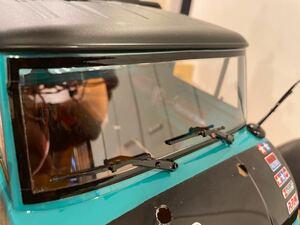 フロントガラスのワイパー ブラック2個  RC  ラジコン クローラー  CR-01