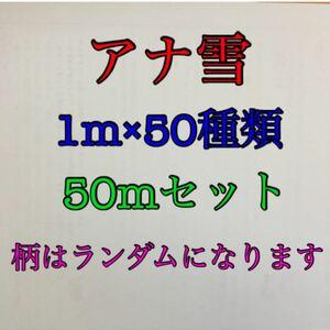 まとめ売り ディズニー プリンス キャラクター アナ雪 グログランリボン 1m×50種類 50mセット