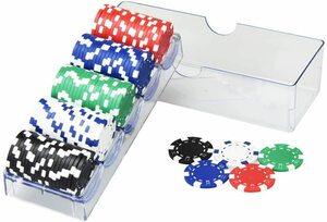 ゲーム用 チップセット プロ仕様 カジノゲーム ルーレット バカラ 本格的 重量感 ポーカーチップ 5色 100枚セット