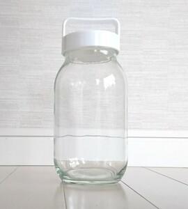 【お値下げしました!】キャニスター ガラス容器 ガラス瓶 蓋付きガラス容器
