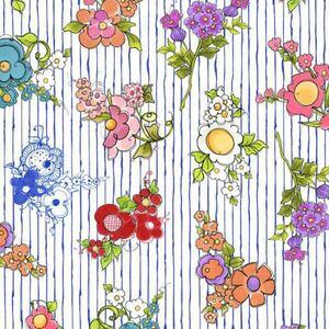 USAコットンロラライハリスMixed Bouquets青ハンドメイド生地布地