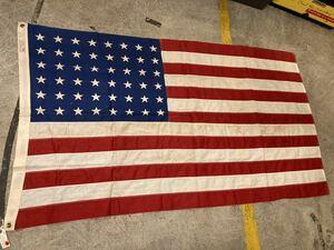 ビンテージUSAフラッグ48s星条旗西海岸サーフスケートバイカー米軍ミリタリーカリフォルニアウトドアメリカントリー車ガレージ世田谷ベース