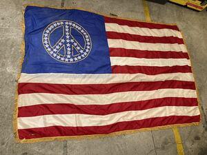 ビンテージUSAフラッグ星条旗ピースマークLOVE&PEACEロックヒッピー70s西海岸サーフカリフォルニアウトドアカントリーガレージ世田谷ベース