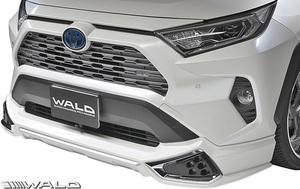 【M's】トヨタ RAV4 G/X 前期 ( R2.6- ) WALD SPORTS LINE フロントスポイラー // ABS 未塗装 ヴァルド バルド エアロ パーツ カスタム