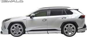【M's】トヨタ RAV4 G/X 前期 ( R2.6- ) WALD SPORTS LINE サイドステップ 左右 // ABS 未塗装 ヴァルド バルド エアロ パーツ カスタム
