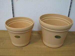 スノコ付の質感が良い素敵な鉢です。★ ルナポット6号と7号のセット ★ ポット・鉢 花鉢、観葉植物