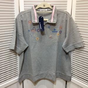 【値下げ】即決☆未使用 DUNLOP ダンロップ 婦人 半袖ポロシャツ 4L グレー 新品