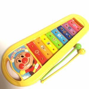 それいけ!アンパンマン【ANPANMAN】 鉄琴 知育玩具 おもちゃ 楽器 USED