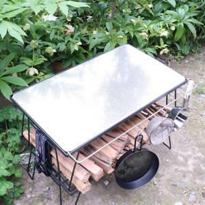 【送料無料】フィールドラック用 ステンレス 天板 ハンドル付 天板 クッキングテーブル キャンプ バーベキューテーブル 《PayPay対応》