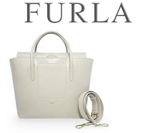 【超美品 ほぼ未使用】 フルラ FURLA 2WAY ハンドバッグ 斜めがけショルダーバッグ トートバッグ 鞄 レザー 革 ピンク ベージュ 大容量