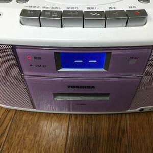 ジャンク TOSHIBA TY-CDS5 CDラジオカセットレコーダー 東芝